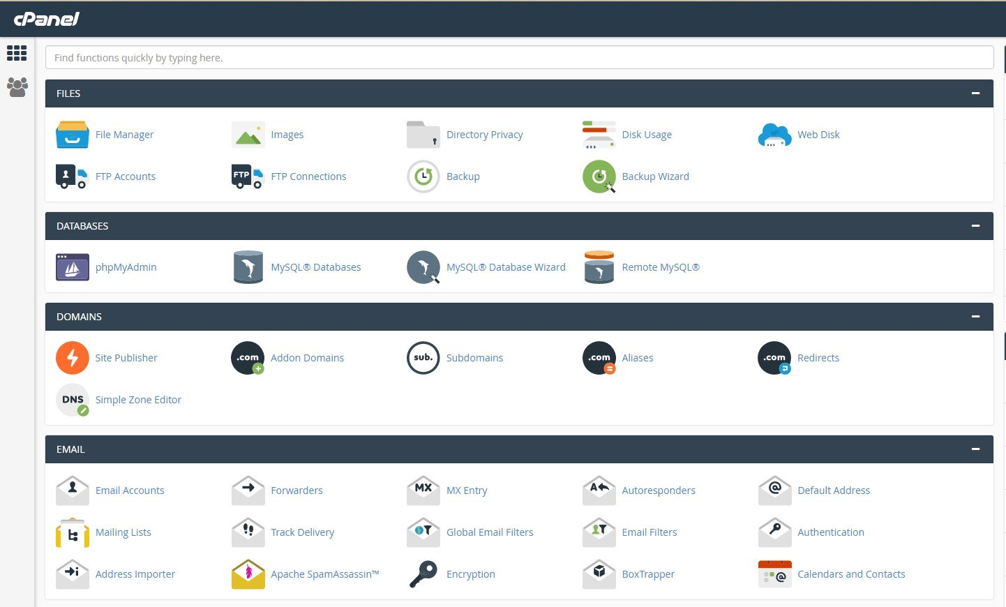 The user creation form in the admin panel cPanel WHM